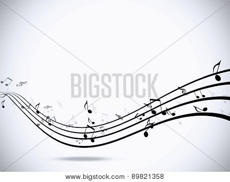 Music Notes White Background