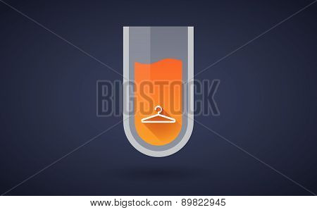 Orange Chemical Test Tube Icon With A Hanger