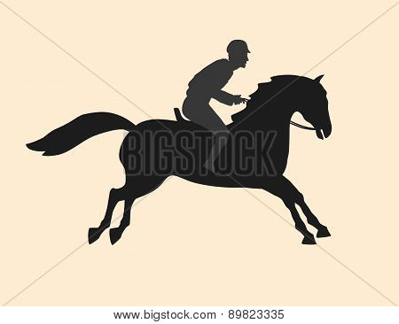 person and horse together forever