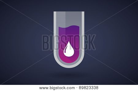 Purple Chemical Test Tube Icon With A Fuel Drop