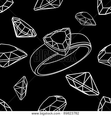 Diamond trillion ring seamless