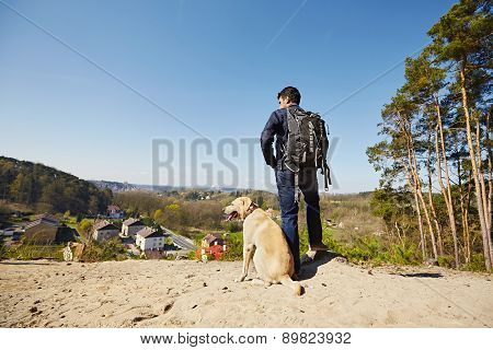 Traveler With Dog