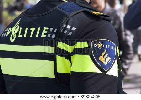 Dutch Police Officer In The Steets Of The Hague