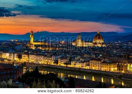 Panoramic Sunset Florence