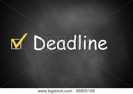 Black Chalkboard Deadline Checkbox