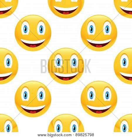 Smiling emoticon pattern