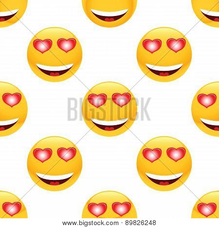 In love emoticon pattern