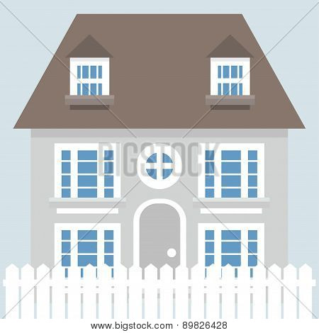 Grey Vector House Icon