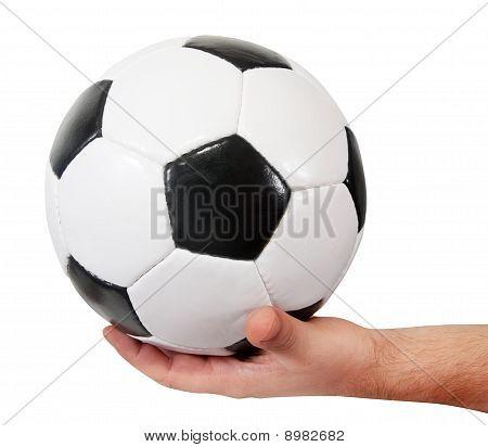 Soccer Ball In Hand