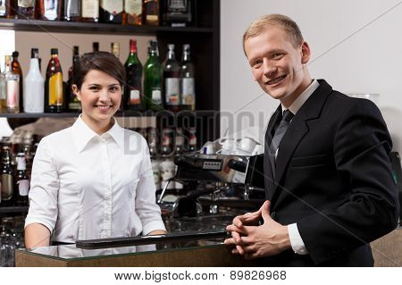Waitress And Businessman