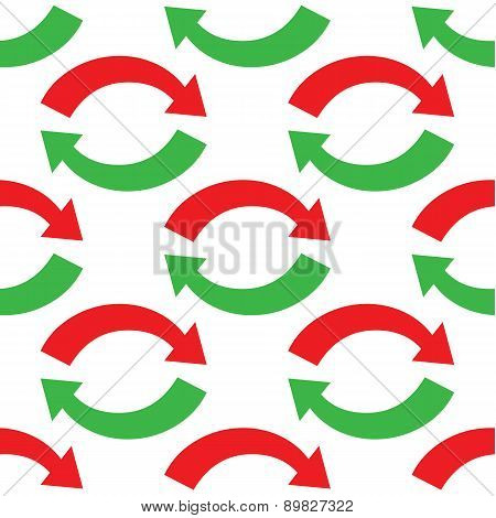 Curved arrows pattern