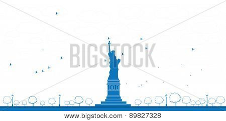 Outline Statue of Liberty New York