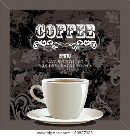 Dark coffee background with cap