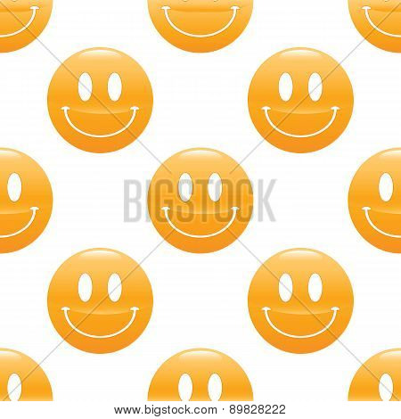 Wide smiling emoticon pattern