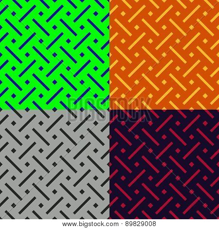 Seamless Patterns From Stripes And Squares