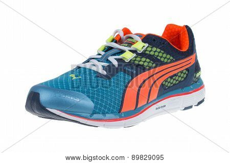 Varna , Bulgaria - January 15, 2015 Puma Faas 500 V3 Shoe. Puma, A Major German Multinational Compan