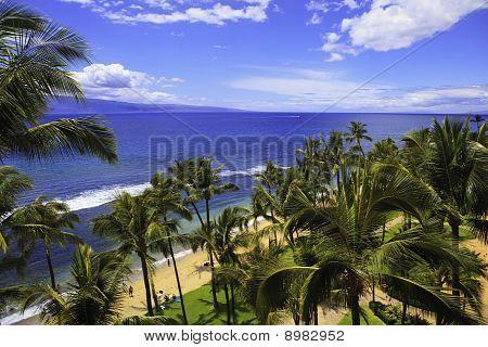 kaanapali beach on mau