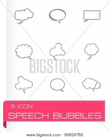 Vector speech bubbles icon set