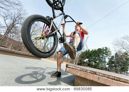 BMX Rider Falling