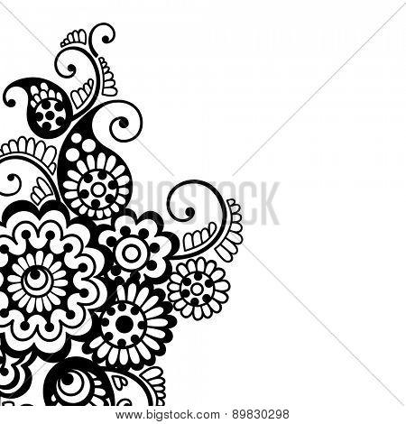 Black flower design, lace ornament