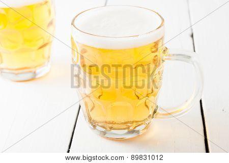 beer in glass beer mug