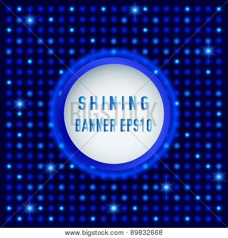 Shining Circle Retro Banner On Light Abstract Background