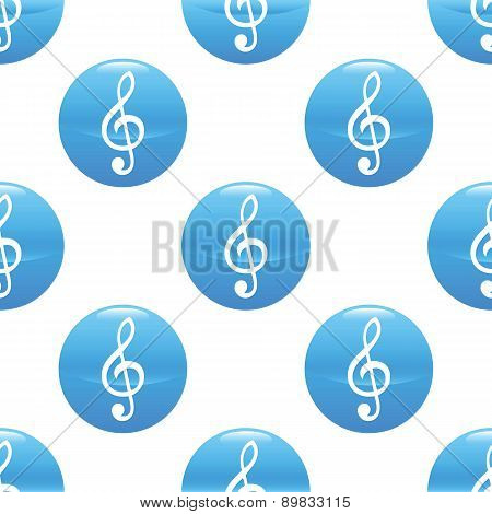 Treble clef sign pattern