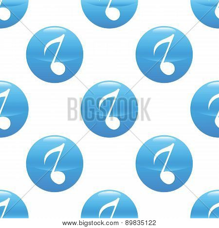 Eighth note sign pattern