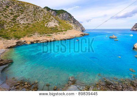 Majorca Cala Figuera beach of Formentor in Mallorca Balearic island of Spain