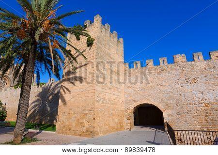 Alcudia Porta de Mallorca in Old town at Majorca Balearic islands of Spain