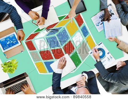 Puzzle Cube Game Cube Shape Intelligence Concept