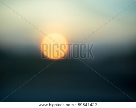 Abstract of Setting Sun