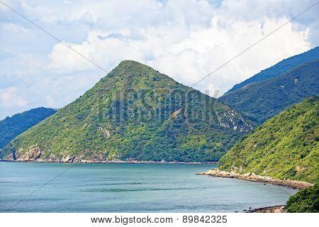 Crimea mountains and Black sea landscape, good sunny day
