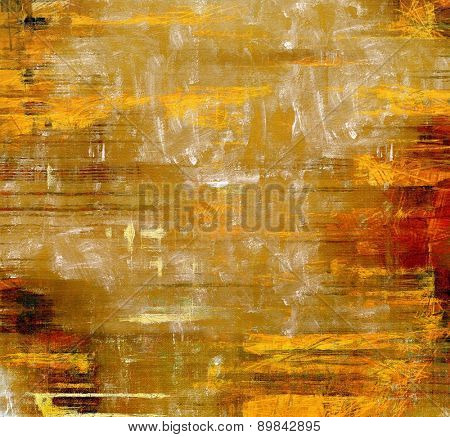 Grunge, vintage old background. With different color patterns: yellow (beige); brown; red (orange)
