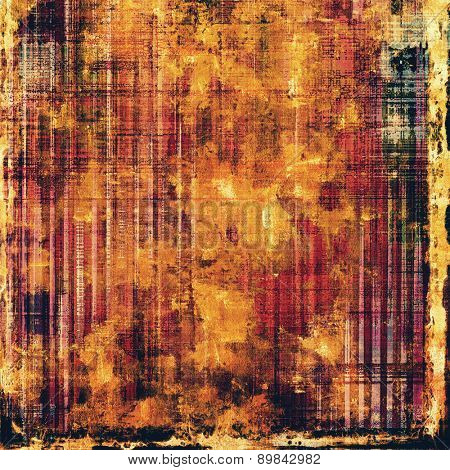Old grunge background with delicate abstract texture and different color patterns: yellow (beige); brown; purple (violet); black