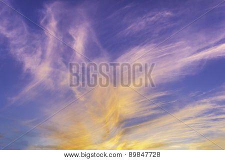 Dramatic Fiery Sunset Sky