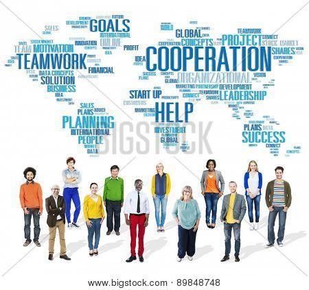 Cooperation Business Coworker Planning Help Teamwork Concept