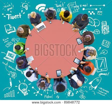 Digital Brainstorm Ideas Meeting Teamwork Concept