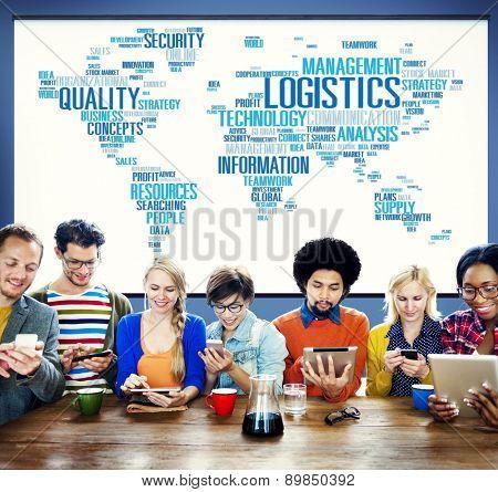 Logistics Management Freight Service Production Concept
