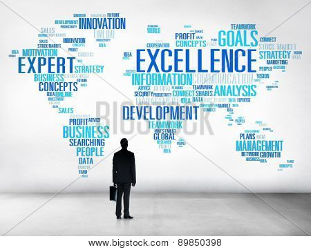 Excellence Expertise Perfection Global Growth Success Concept
