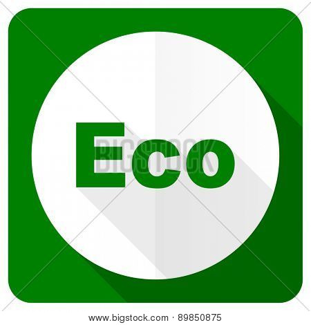 eco flat icon ecological sign