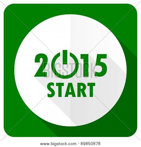 new year 2015 flat icon new years symbol