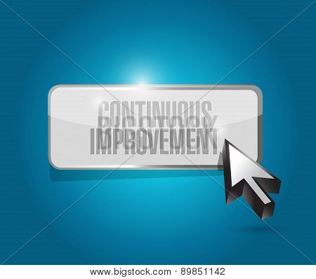 Continuous Improvement Button Sign