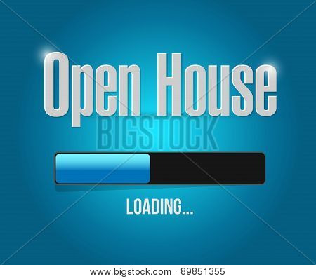 Open House Loading Bar Sign Concept