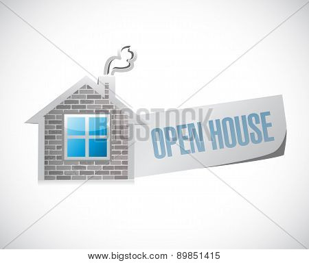 Open House Sign Concept Illustration