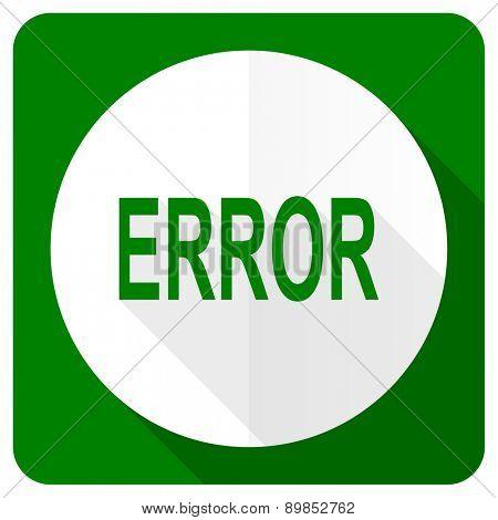 error flat icon