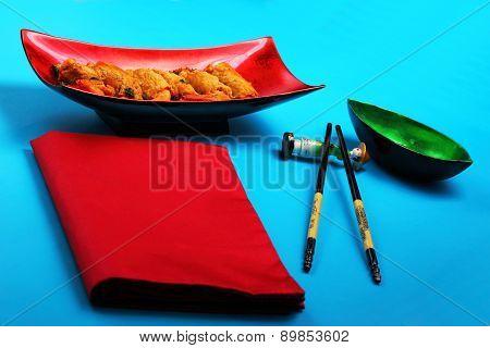 Deep Fried Shrimp And Pork Rolls