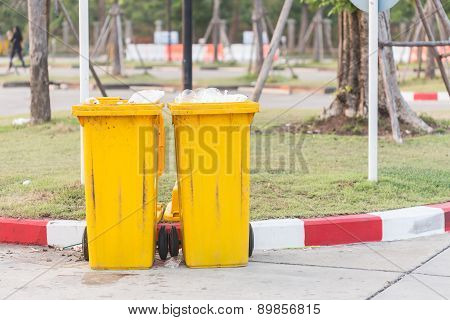 Yellow Big Plastic Bin
