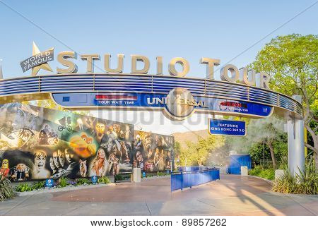 Entrance Of The Studio Tour, Popular Attraction At The Universal Studios In Hollywood