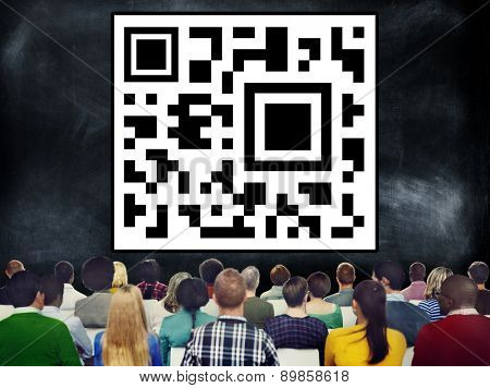 Quick Response Bar Code Digital Internet Concept